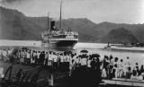 Sejarah KH Hasyim Asyari Keluarkan Fatwa Haram Pergi Haji. Foto: Jamaah haji tempo dulu menggunakan angkutan kapal laut (ilustrasi).