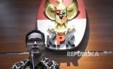 Juru bicara KPK Febri Diansyah memberikan keterangan pers mengenai penetapan tersangka baru pada kasus suap proyek Dinas PUPR Kabupaten Pakpak Bharat, di gedung KPK, Jakarta, Senin (23/9/2019).