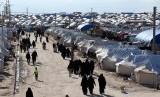 Kamp pengungsian Al-Hol di Hassakeh, Suriah yang menampung keluarga anggota militan ISIS.