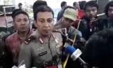 Kapolda DIY, Brigjen Pol Ahmad Dhofiri saat diwawancara wartawan.