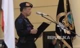 Kapolri Jenderal Tito Karnavian  memberikan sambutan saat acara serah terima jabatan  perwira tinggi  Kadiv Humas Polri dan Kapolda Bangka Belitung di  Mako Brimob, Depok, Jawa Barat, Rabu (14/11).