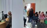 Suasana Kantor VFS Tasheel yang berada di Jl Adi Sucipto No 1 Pekanbaru, Provinsi Riau. (ilustrasi)