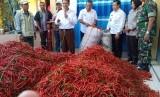 Kementerian Pertanian meluncurkan pasar lelang cabai di Desa Wadung, Kecamatan Jenu, Kabupaten Tuban