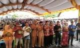 Kementerian Pertanian menggelar Festival Durian dan Gelar Buah Eksotik ke-5 di Kabupaten Banjar, Kalimantan Selatan, Selasa (22/1).