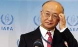 Kepala Badan Energi Atom Internasional (IAEA) Yukiya Amano.