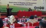 Kepala Badan Ketahanan Pangan (BKP), Kementerian Pertanian (Kementan) Agung Hendriadidalam International Workshop on Tropocal Wetlands: Innovation in Mapping and Managament for Sustainable Agriculture di Banjarmasin, Jumat (19/10)