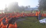 Kepala Badan Nasional Penanggulangan Bencana Daerah (BNPB), Doni Monardo dan Gubernur Jawa Barat, Ridwan Kamil menghadiri Hari Kesiapsiagaan Bencana di Sesko AU, Lembang, Jumat (26/4).