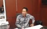 Ketua Baleg Supratman Andi Agtas menyampaikan keterangan pers gterkait UU MD3 di Komplek Parlemen Senayan, Selasa (13/2)
