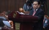 Ketua Bawaslu Abhan menyampaikan keterangan pada sidang lanjutan Perselisihan Hasil Pemilihan Umum (PHPU) Pilpres 2019 di gedung Mahkamah Konstitusi, Jakarta, Selasa (18/6/2019).