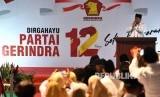 Ketua Dewan Pembina Partai Gerindra Prabowo Subianto menyampaikan pengarahan dalam peringatan HUT ke-12 Partai Gerindra di kantor DPP Partai Gerindra, Jakarta Selatan, Kamis (6/2/2020).