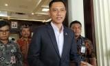 KetuaKogasmaPartai Demokrat, Agus Harimurti Yudhoyono (AHY), di kantor Kementerian Koordinator Bidang Politik, Hukum, dan Keamanan, Gambir, Jakarta Pusat, Jumat (22/3).