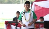 Ketua RMINU, KH. Abdul Ghaffar Rozin di Acara Final Liga Santri Nusantara 2019, di Stadion Cibinong, Bogor, Jawa Barat, Jumat (8/11).