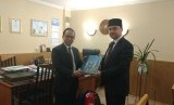 Ketua Tim Percepatan Pengembangan Pariwisata Halal Kemenpar, Riyanto Sofyan (kiri) dan Ketua Badan Pelaksana Dewan Mufti Rusia, Rushan Abbyasov.