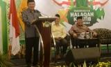 Ketua Umum Dewan Masjid Indonesia (DMI) Jusuf Kalla saat berbicara di hadapan ratusankhatibyang tergabung dalam Halaqah Khatib (Ikatan Khatib) saat Penutupan Rakernas II dan Halaqah Khatib Indonesia di Royal Kuningan, Jakarta, Sabtu (15/2/2020) di Hotel Royal Kuningan, Jakarta.