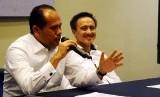 Ketua Umum DPN Peradi Juniver Girsang bersama Wakil Ketua Umum Harry Ponto.