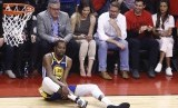 Kevin Durant saat cedera di gim kelima Final NBA.