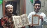 Kolektor dan pencinta manuskrip Nusantara asal Sidoarjo, Jawa Timur, Erwin Dian Rosyidi menyerahkan sembilan mushaf dan manuskrip kuno ke Bayt Alquran dan Musemum Istiqlal (BQMI) Lajnah Pentashihan Mushad Alquran (LPMQ) Kementerian Agama.