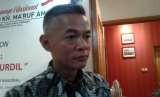 Komisioner KPU Wahyu Setiawan di Posko Cemara, Menteng, Jakarta Pusat, Selasa (18/9).