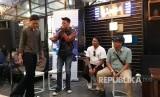 Komunitas beatbox dan cutbraylers Sukabumi tengah berkolaborasi dalam ajang Unity Pitstop di Kota Sukabumi Sabtu (16/4).