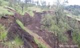 Kondisi Gunung Rinjani saat tim gabungan melakukan survei lapangan pada Sabtu (16/3).