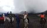 Kondisi terakhir Gunung Bromo, Jumat (15/3).