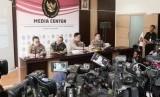 Konferensi pers di Mabes Polri