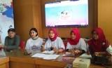 Konferensi pers kegiatan bertajuk Jogja Color Walk dan Jogja Menari 2018, di Balai Kota Yogyakarta.