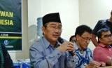 Konferensi pers pernyataan sikap Ikatan Cendikiawan Muslim Indonesia (ICMI) usai pemungutan suara pemilihan umum (Pemilu) 2019, di ICMI Center, Pancoran, Jakarta Selatan, Senin (22/4).