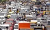 Suasana kemacetan di Kota Mumbai, India (ilustrasi)