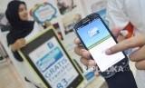 Layanan mobile banking salah satu bank syariah di Tanah Air.
