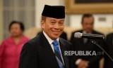 Letnan Jenderal (Purn) TNI Agus Widjojo sesaat sebelum pelantikan menjadi Gubernur Lembaga Ketahanan Nasional (Lemhanas) oleh Presiden Joko Widodo di Istana Negara, Jakarta, Jumat (15/4).