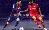 Lionel Messi (Barcelona/kiri)Vs Angel Rodriguez (Getafe)