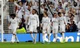 Los Blancos menang 2-1 atas Sevilla, Sabtu (18/1).