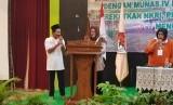 Mak Tutut ketika membuka Musyawarah Nasional IV Persatuan Anak Transmigran RI (PATRI) yang berlangsung di Hotel Desa Wisata, Taman Mini Indonesia Indah, Jakarta.