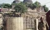 Pembangunan Kuil di Masjid Babri Dikecam. Foto: Masjid Babri di Ayodhya, India yang sejak lama menjadi sengketa antara Muslim dan Hindu.