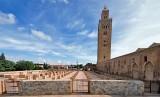 Perayaan Ramadhan di Maroko Jauh Lebih Tenang. Masjid Koutoubia di Kota Marrakech, Maroko.