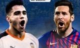 Maxi Gomez (Valencia/kiri) Vs Lionel Messi (Barcelona).