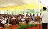 Menag Lukman memberi arahan di Kampus IAIN Samarinda, Kaltim