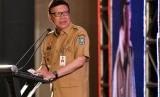 Mendagri Tjahjo Kumolo memberikan pengarahan dalam Forum Komunikasi dan Konsultasi Nasional antara Pemerintah dan Ormas di Jakarta, Selasa (6/11/2018).