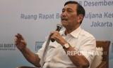 Menko Kemaritiman Luhut Binsar Panjaitan menjadi pembicara dalam Forum Merdeka Barat 9 di Gedung Bappenas, Jakarta, Selasa (18/12/2018).