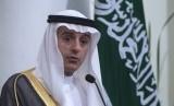 Menlu Kerajaan Arab Saudi Adel bin Ahmed Al Jubeir. (Antara/Rosa Panggabean)
