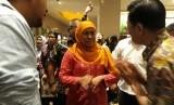 Mensos saat menghadiri  gala premier di Epicentrum, Jakarta, Senin (20/3) petang.