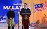 Menteri Desa, Pembangunan Daerah Tertinggal, dan Transmigrasi, Eko Putro Sandjojo menghadiri perayaan Hari Nasional ke-62 Malaysia.