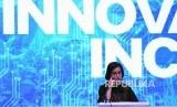 Minister of Finance Sri Mulyani Indrawati gave a presentation at the 2019 Indonesia Fintech Summit & Expo at the Jakarta Convention Center (JCC), Jakarta, Monday (9/23/2019).