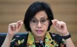 Menteri Keuangan Sri Mulyani memberikan keterangan terkait realisasi Anggaran Pendapatan dan Belanja Negara (APBN) 2019 di Kementerian Keuangan, Jakarta, Selasa (19/3/2019)
