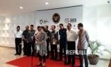 Menteri Koordinator Bidang Pembangunan Manusia dan Kebudayaan (Menko PMK) Puan Maharaniberbicara di konferensi pers mengenaiAsian Games Terkait Keamanan, di Jakarta, Kamis (17/5).