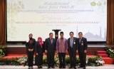 Menteri Pertanian Amran Sulaiman bersama jajarannya menghadiri halal bi halal di Jakarta