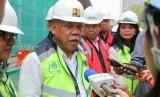 Menteri PUPR Basuki Hadimuljono memberikan paparan tentang renovasi Masjid Istiqlal
