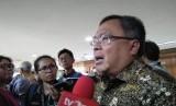 Menteri Riset dan Teknologi (Menristek) dan Kepala Badan Riset Inovasi Nasional (BRIN), Bambang Permadi Soemantri Brodjonegoro ditemui di Gedung II BPPT, Jakarta Pusat, Selasa (29/10).