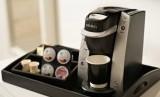 Mesin kopi di hotel. Ilustrasi